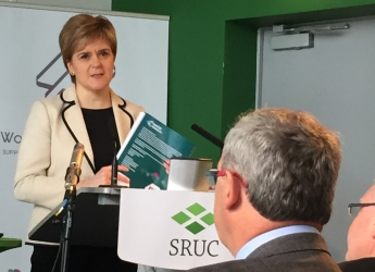 First Minister Nicola Sturgeon addresses the Women in Agriculture event
