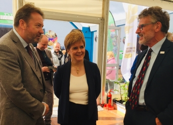 First Minister Nicola Sturgeon visited the Hutton marquee at the Highland Show