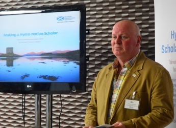 Professor Bob Ferrier unveiled the new HNIC (c) James Hutton Institute