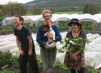 The Tomnah'a Market Garden team sell fruit, veg & flowers directly to customers