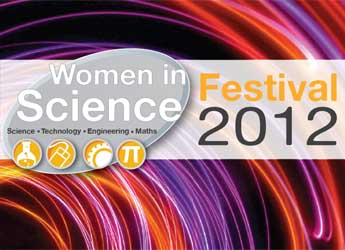 Image of the Women in Science festival brochure