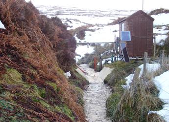 Image showing the monitoring Station at Birnie Burn