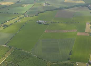 Aerial photograph of Balruddery Research Farm