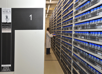 Image showing the National Soils Archive storage