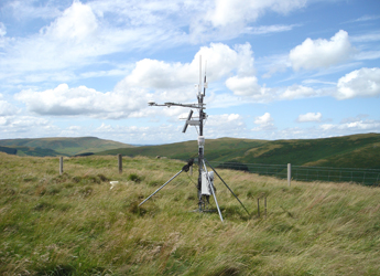 Image showing the Automatic Weather Station at Sourhope