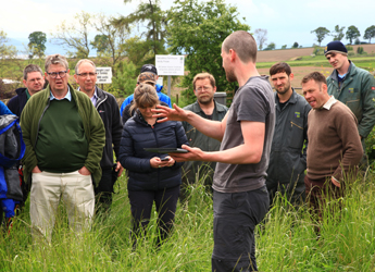 Demonstrating the soil carbon app at LEAF Technical day 2014