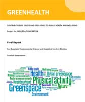 Cover of the Green Health Project final report