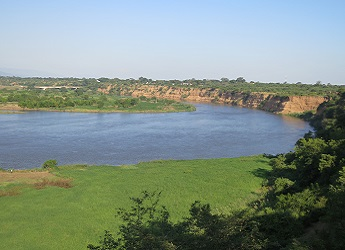The Shire River in Malawi