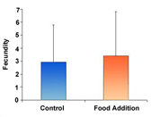 Figure 2C - The effects of food addition on fecundity