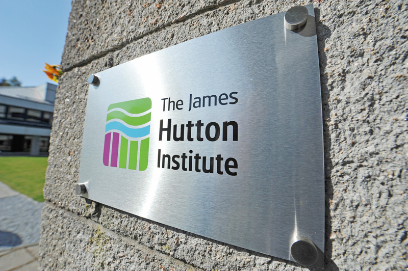 James Hutton Institute plaque