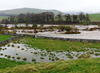 Image showing flooding in Bowmont, Scottish Borders