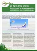 PDF file: On-Farm Wind Energy  Production in Aberdeenshire information note (opens in a new window)