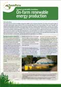 PDF file: EU FarmPath: On-farm renewable energy production information note (opens in a new window)