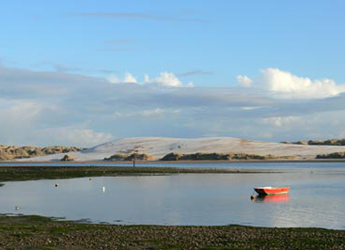 Photograph looking across the Ythan Estuary