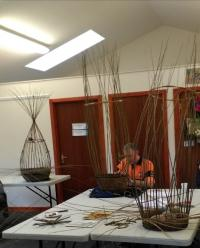 Community stakeholders learn traditional skills at Kiki's craft corner.  Credit: Carla Barlagne