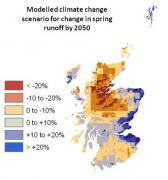 Modelled climate change scenario map of Scotland