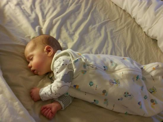 Picture of an adorable sleeping baby. Copyright Kerry Waylen