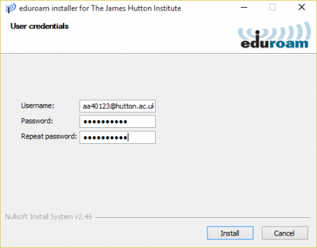 Install eduroam on a Windows computer - Step One