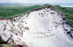 Dune system - blow out through erosion - Uists