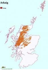 Distribution of the Arkaig Soil Association