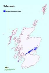 Distribution of Balrownie Soil Association