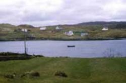 Crofting township on Harris with cultivated lazy-beds in foreground
