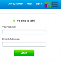 Enter your name and email address and click the Join button