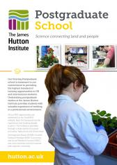 James Hutton Institute Postgraduate School leaflet