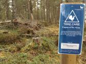 Image showing warning sign for woodland users entering an area with Capercaillies