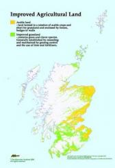 Map showing Arable Land and Improved Grassland