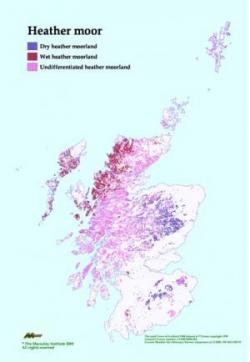 Heather Moorland distribution